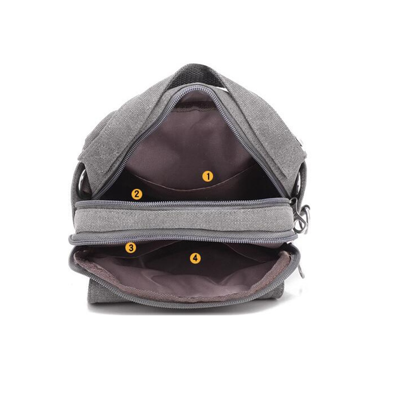 9beebc30d3ce New Men Crossbody Bag Canvas Small Quality Canvas Grey Shoulder Messenger  Bags Handbag Chest Pack Bags for Boy Teenagers L4 3242-in Crossbody Bags ...