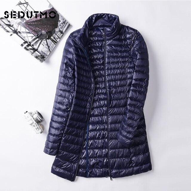 6a2142d2f98 SEDUTMO Winter Plus Size 4XL Womens Down Jackets Ultra Light Duck Down Doat Long  Puffer Jacket Slim Autumn Parkas ED028