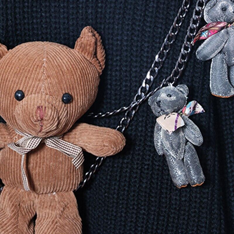 Mignon Marque Chandails Noir Ly71 Col Nouveau Pulls Design Hiver Fille Bandage Automne Roulé Mode Femmes Tops Black Lâche Poupée Panda wqXxIUta