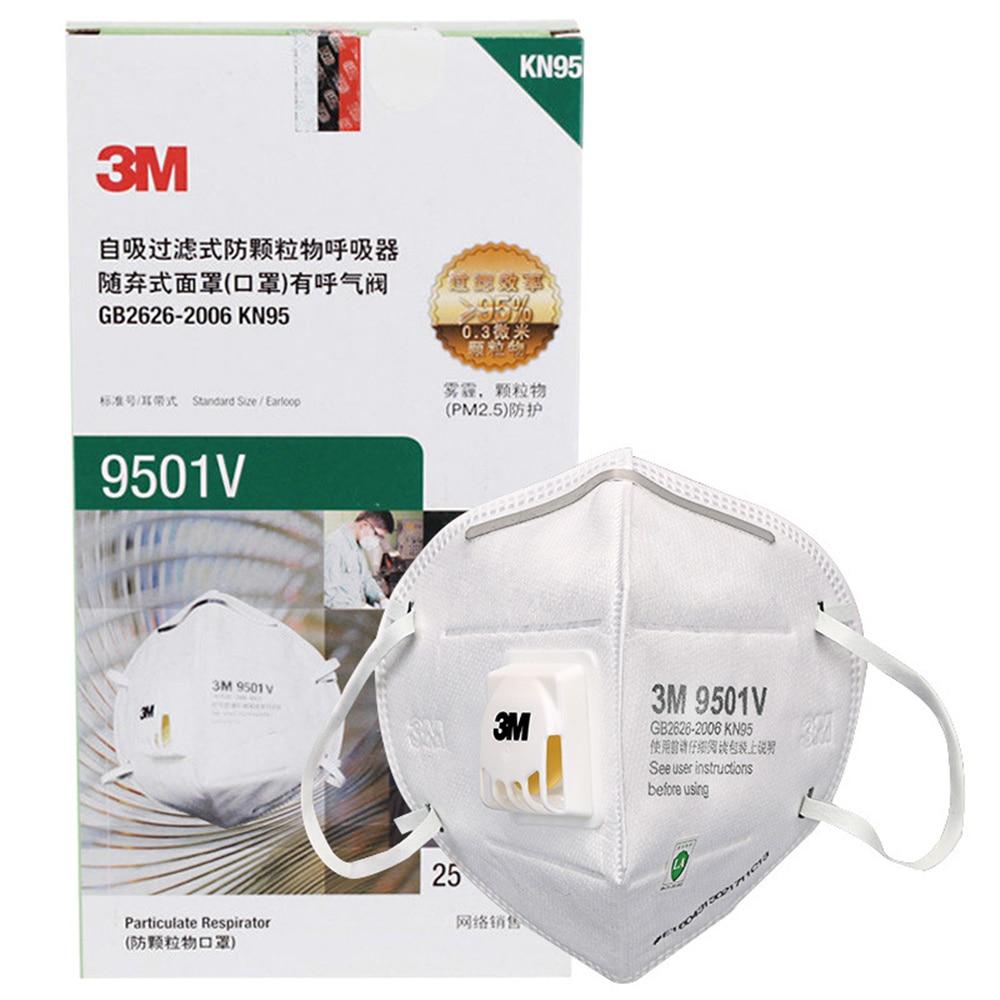 25Pcs 3M 9501V Mask Anti Dust Masks KN95 Masks Anti-haze Riding Anti-particles Filter Material Protective Masks