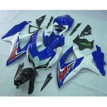 Blue White INJECTION Fairing Kit For SUZUKI GSXR600 750 GSXR 600 750 08-10 09 6A