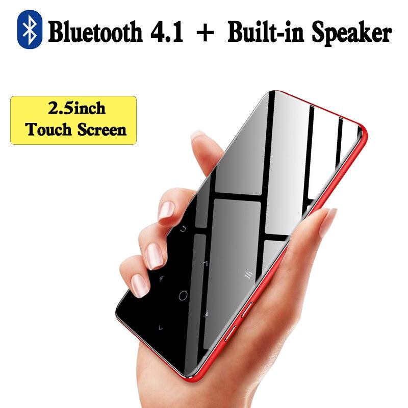 IQQ Bluetooth 4.1 lecteur MP3 à écran tactile intégré 16 GB et haut-parleur avec radio FM/enregistrement Portable baladeur sonore sans perte mince