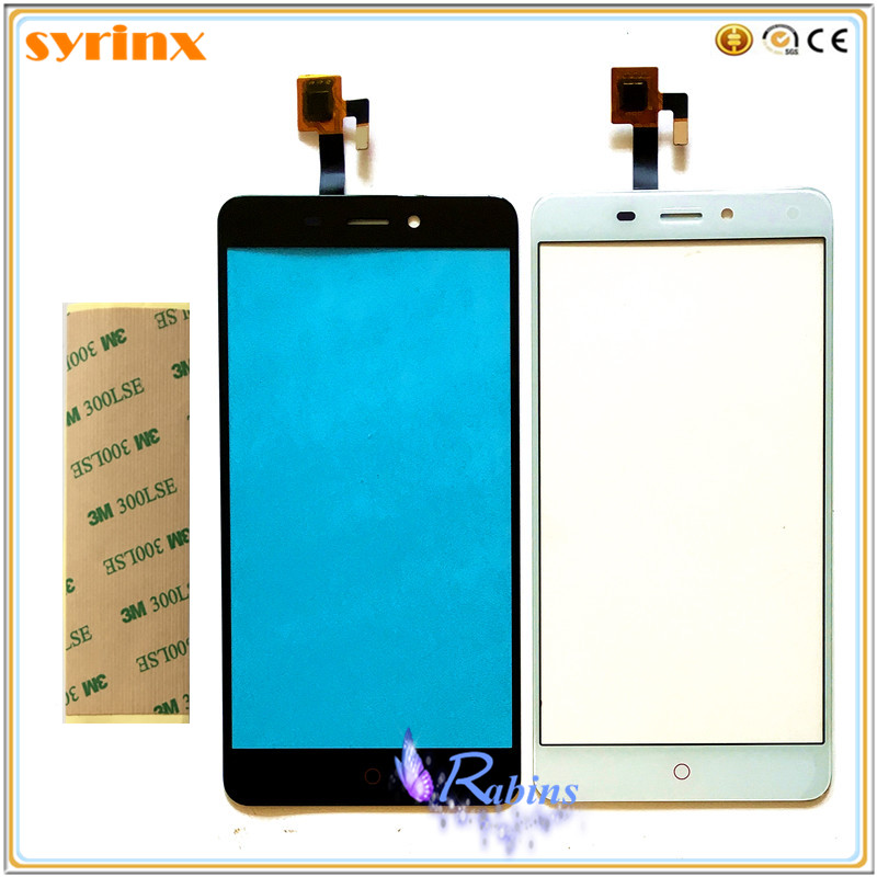 5.5 Digitador Da Tela de Toque do telefone Móvel Para Zte Nubia N1 NX541J Sensor de Toque Painel Touchscreen Lente de Vidro Da Frente 3 M adesivos