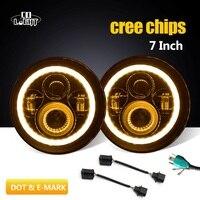 Co Light 7 Round Led Headlight H4 Hign Low Beam 6500K 6000K 7Inch Led Moto Light