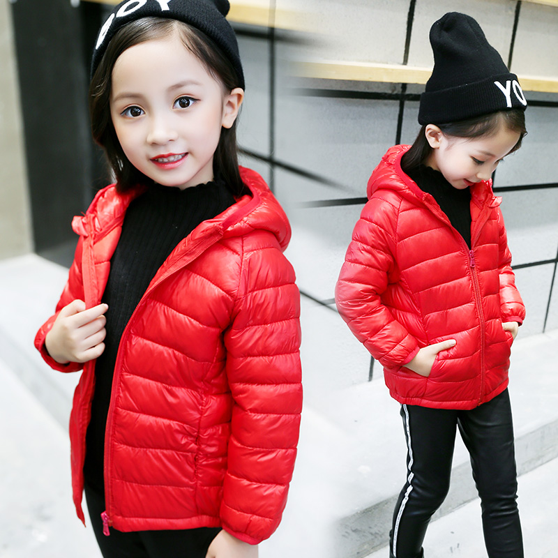 купить Children's down cotton clothes light thin boys and girls baby big children's cotton coat winter short warmth jacket FREE по цене 5439.8 рублей