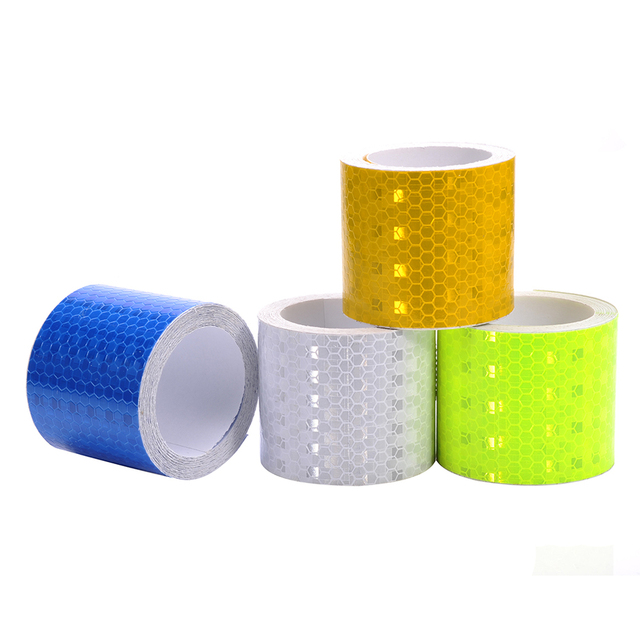 Safety Mark Reflective tape Stickers Self Adhesive Warning Tape Automobiles Motorcycle Reflective Film