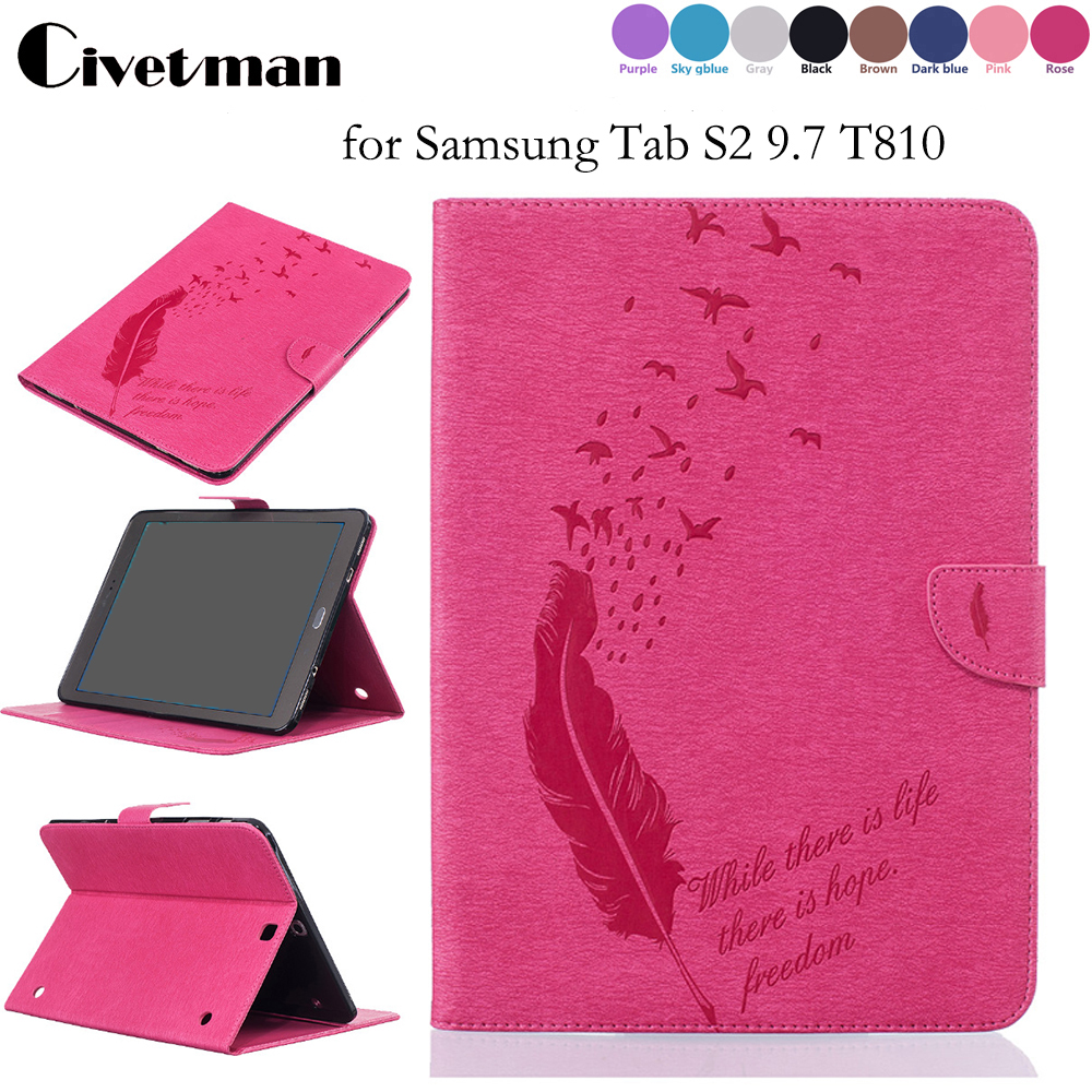 PU Leather Case For Samsung Tab S2 9.7 T810 T813 T815 T819 Luxury Coque Fundas Stand Cover For Galaxy SM-T810 9.7 цена 2017