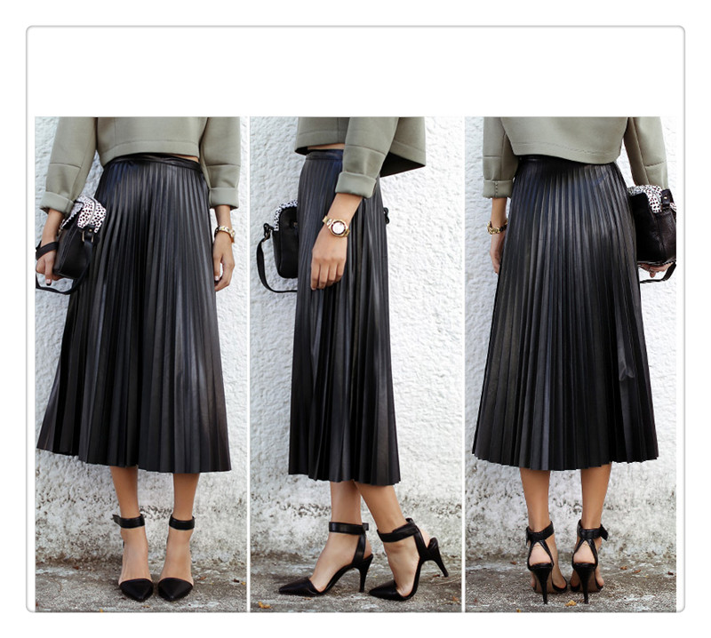 Aliexpress.com : Buy Sping and Winter PU Leather Skirt new retro ...