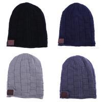 بلوتوث اللاسلكية الموسيقى قبعة قبعة غطاء الذكية سماعة ميجا باس لينة دافئ قبعة الشتاء قبعة سماعة سماعة مع ميكروفون