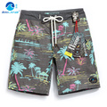 Cover the wave of high-end men's silk cotton beach pants loose size thin pants casual shorts in summer.
