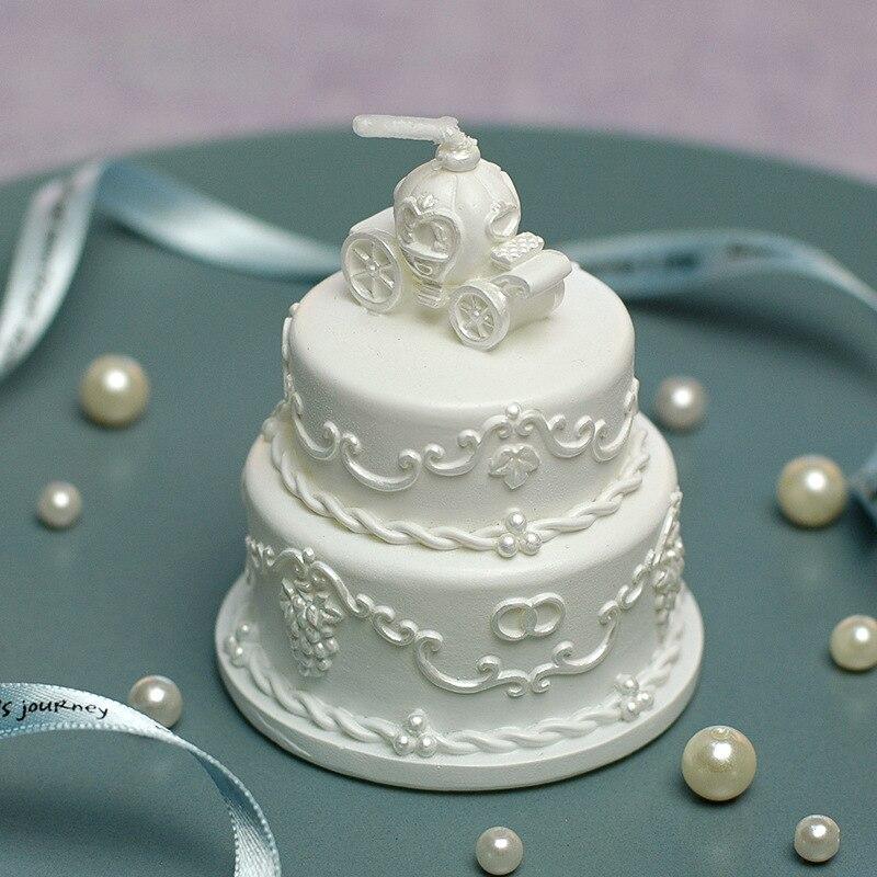 nuevo molde de la torta de boda forma del molde de la vela del carro