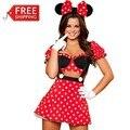 Rojo minnie mouse trajes adultos disfraces de halloween para las mujeres del partido de cosplay sexy minnie mouse dress fantasy mujeres al por mayor