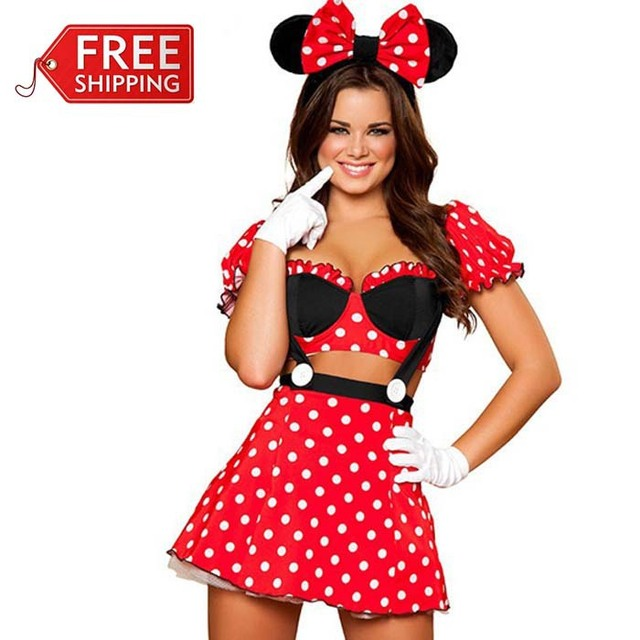 red minnie mouse costumes adults halloween costumes for women party cosplay sexy minnie mouse dress fantasy  sc 1 st  AliExpress.com & red minnie mouse costumes adults halloween costumes for women party ...