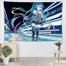 Wall Tapestry Miku Anime Tapestries Wall Hanging Show Piece For Home Decor Wall Carpet Beach Throw Rug Blanket Yoga Mat