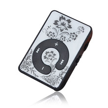 Hot Sale Mini Clip Flower Pattern MP3 Player Music Media Sup