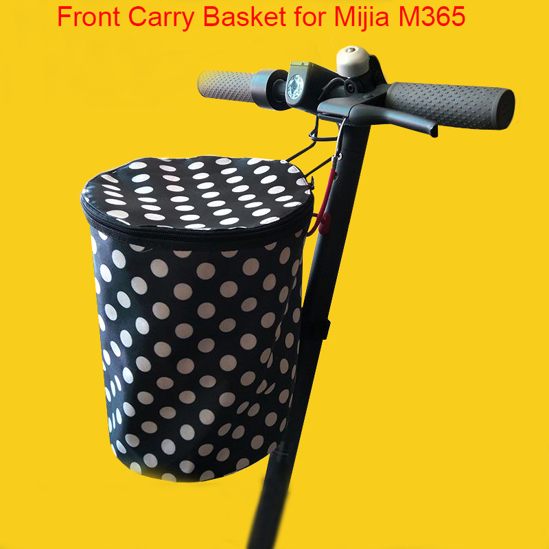 все цены на Electric Scooter Carry Front Bag Basket Shelf for Xiaomi Mijia M365 Scooter Electric Skateboard Bike Storage Handbag Durable