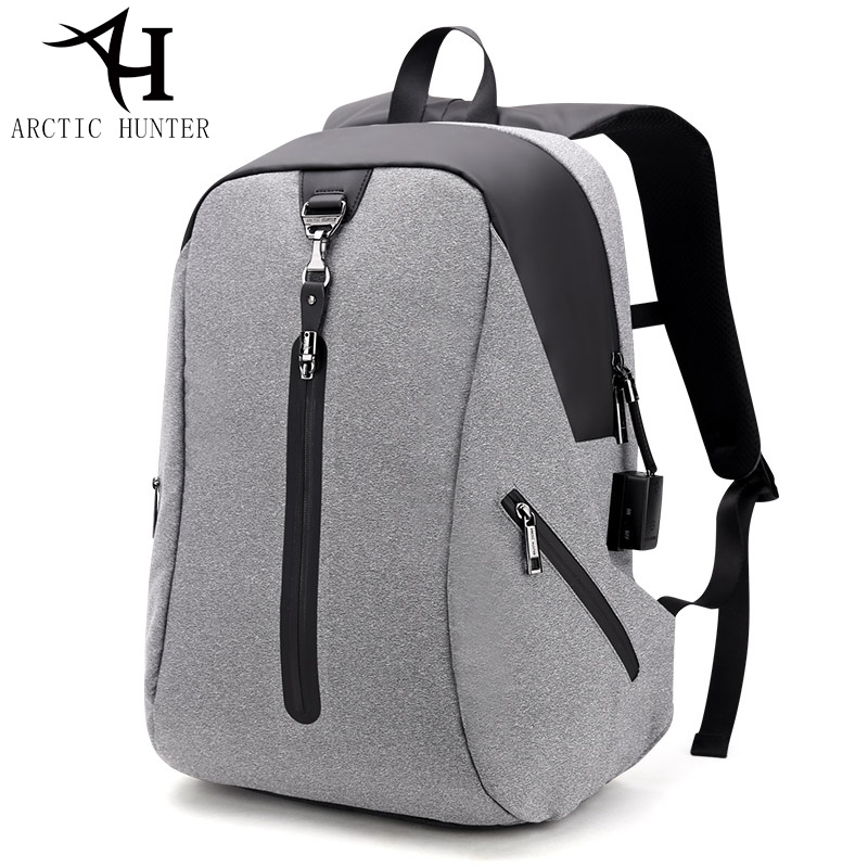 ARCTIC HUNTER USB Anti-theft Alarm System Backpack Male Business Travel Laptop backpack men's Casual Back pack men bag arctic hunter design backpacks men 15 6inch laptop anti theft backpack waterproof bag casual business travel school back pack