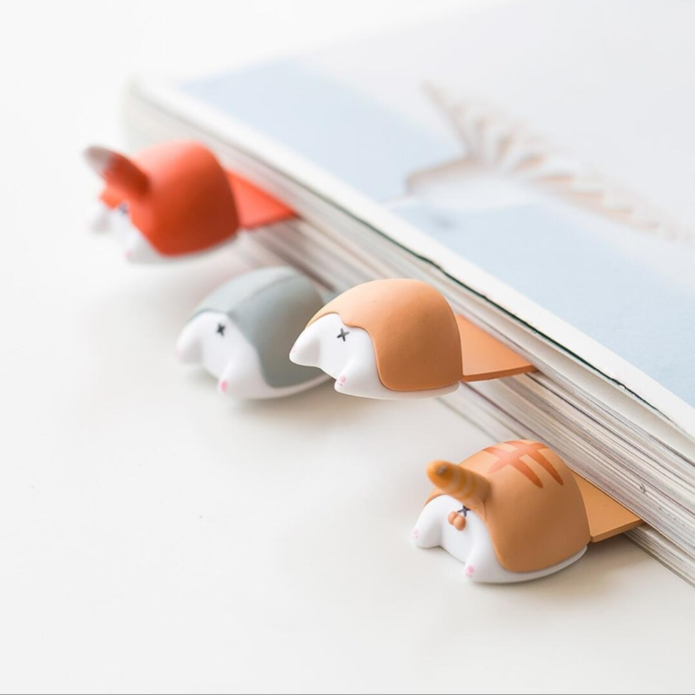 Creative Kolkie Cat Hamster Fox Animal Buttocks Bookmark Promotional Gift Stationery Film Bookmark