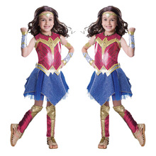 2019 Birthday party princess Costume for baby Deluxe Child Dawn Of Justice Wonder Girls Halloween Kids Party Dress