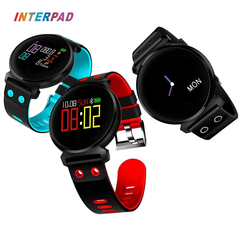 Interpad I2 IP68 Professional Waterproof Fitness Bracelet Smart Wristband Fitbit Bluetooth Smart Band Watches Blood Pressure