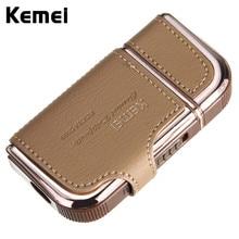 Kemei перезаряжаемые стрижка бритва легкий золото электрический большой подарок портативный мода