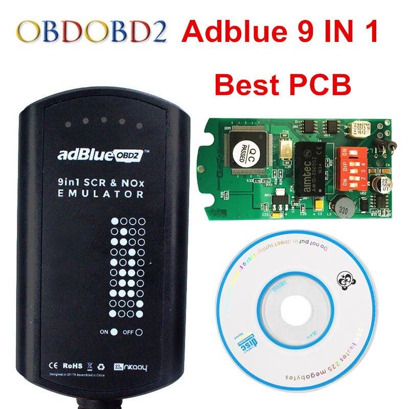 10 teile/los Adblue 9 in 1 Unterstützt EURO 4 & 5 Mit NOX Sensor Adblue Emulator 9in1 Box Arbeitet 9 marke Lkw DHL Kostenloser Versand