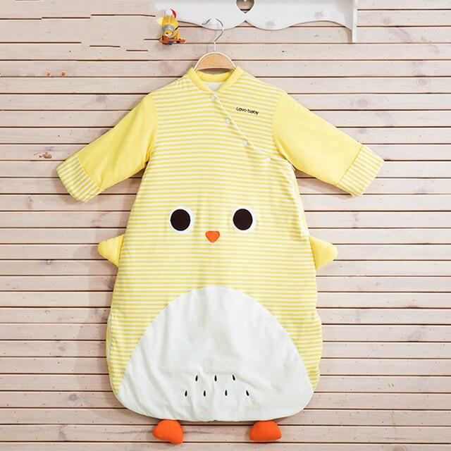 High Quality Baby Spring Cotton Sleeping Bag Cuff Warm Anti Kicking Cartoon Children Sleeping Sack Wrap Swaddle Free Shipping