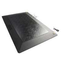 Black Antistatic ESD Anti fatigue Floor Mat Easy DIY Length 25mm thickness 45*60cm for Factory Workstation Lab