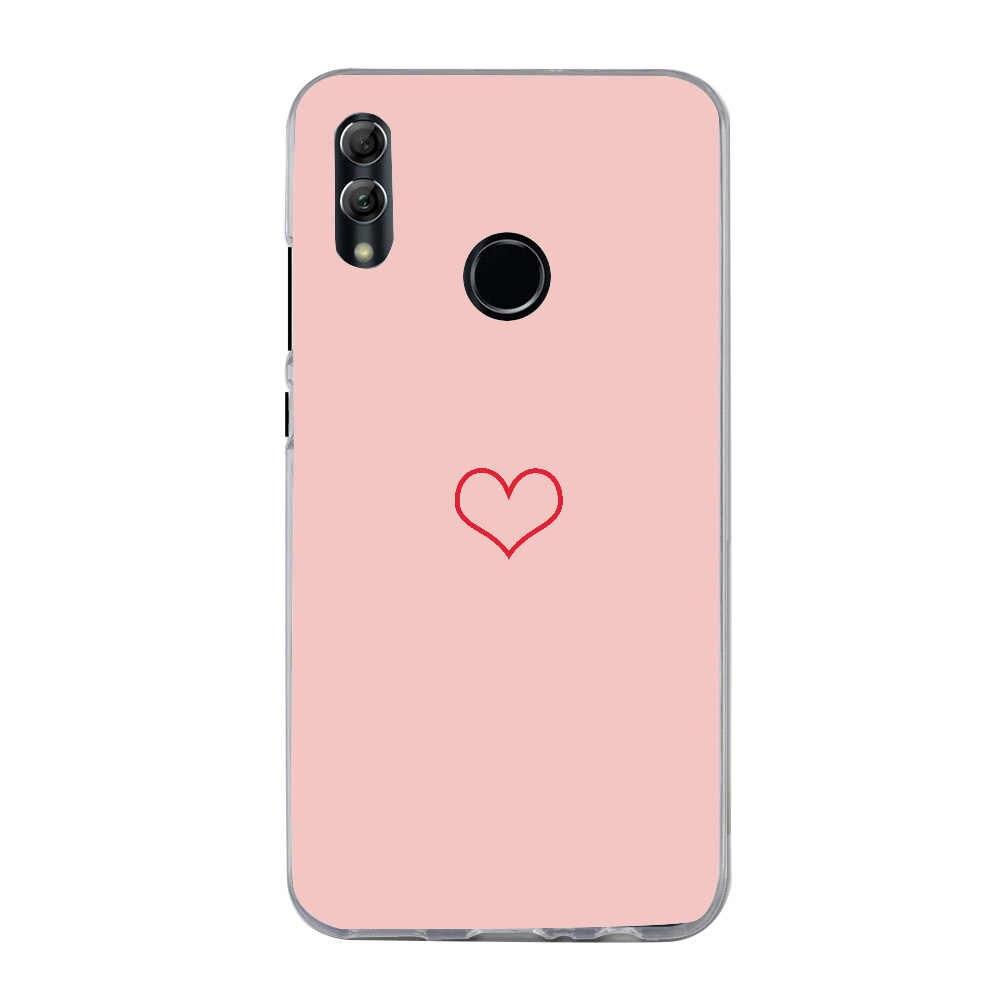 حافظة لهاتف هواوي P Smart 2019 حافظة مطبوع عليها قلب الحب لهاتف Honor 7A Y6 2018 P20 Pro P9 Lite 2018 P20 Lite حافظة هاتف