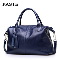 100 Nature Cow Genuine Leather Women Tote First Layer Cow Female Messenger Bags Satchel Fringed Shoulder