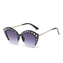 d709e0200228e 2018 Nova Rhinestone Espelho Rosa Azul Olho de Gato Óculos De Sol Das  Mulheres Marca de Moda Óculos de Sol Feminino Vintage Extr..