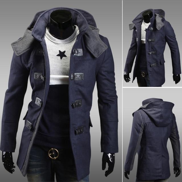 Winterjas Heren Trenchcoat.Trench Coat 2015 Single Breasted Long Sleeve Woolen Coat Blazer
