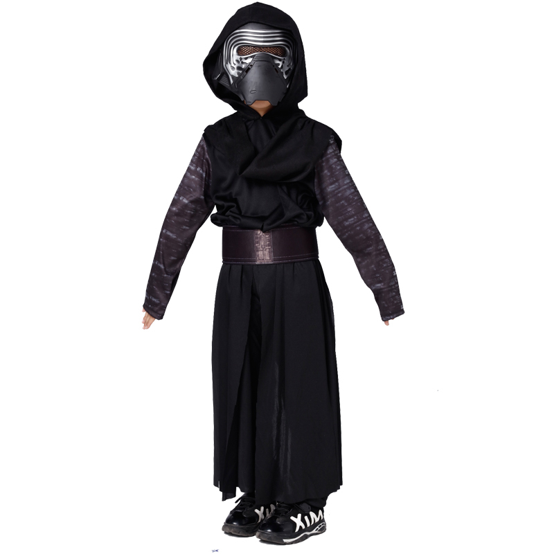 S L Children Halloween Darth Vader Role play Costumes Boys Movie Star Wars Cosplay masked ball Carnival Masquerade party dress
