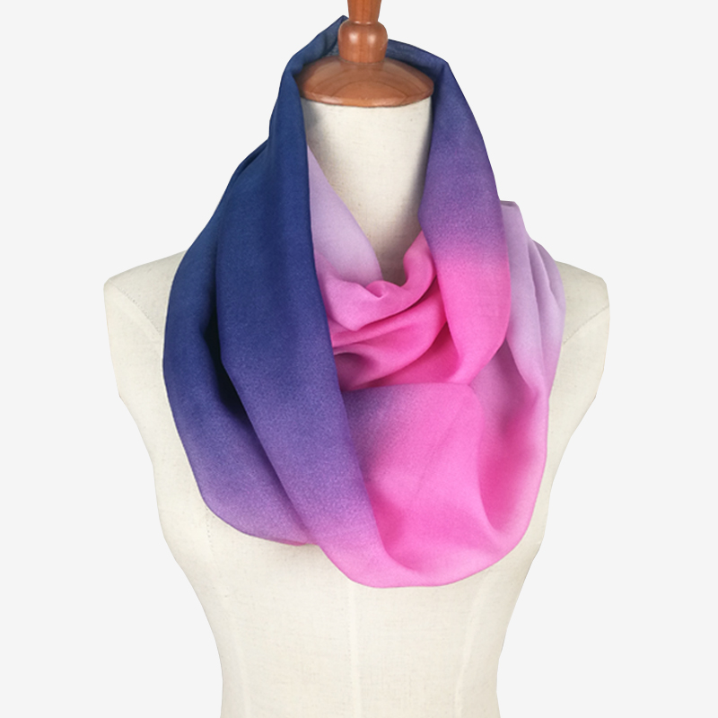 Silky Rainbow Ring Scarf | Infinity Scarves