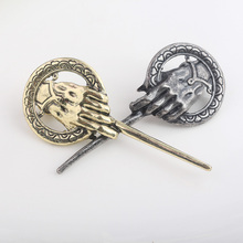 Fashion Game Of Thrones Hand of the King Badge Brooches Pins A Song of Ice and Fire Exquisite  Dragon Wolf Women Men Suit Brooch cool movies game of thrones wallets targaryen blood and fire dragon wallets for women men mini wallet and purse billeteras wolf