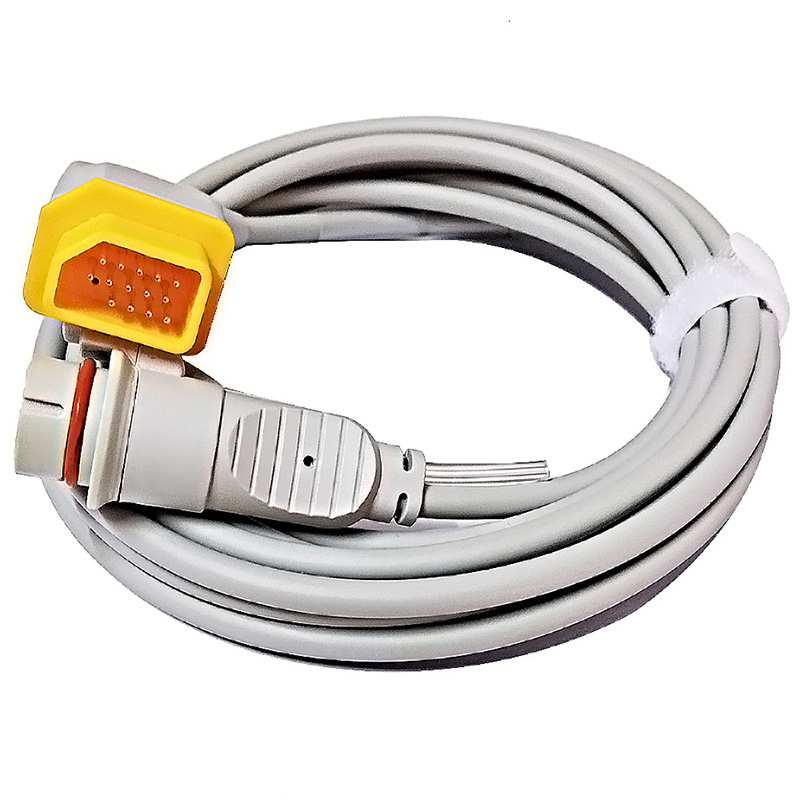 Compatible with Nihon Kohden 14pin M and BD 6pin F IBP transducer adapter cable free shipping compatible for drager 8060 to abbott transducer ibp adapter cable red 10pin ibp cable tpu patient monitor cable