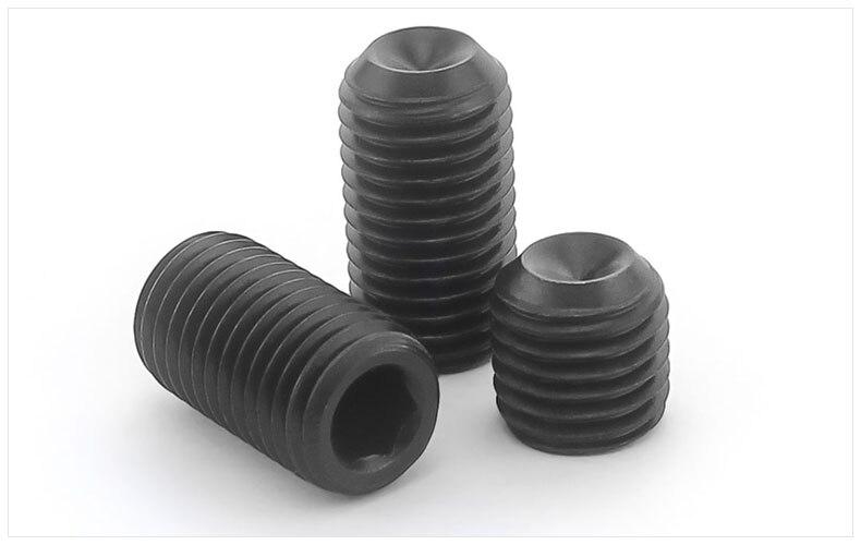 DIN916 12.9 carbon steel Concave set screws hex socket black Chimi screws M5 M6 M8 screw headless Top wire machine screw футболка dc concave black
