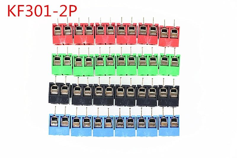 цена на Free shipping10 PCS KF301-5.0-2P Pitch 5.0mm KF301-2P Straight Pin PCB 2 Pin 3 Pin Screw Terminal Block Connector