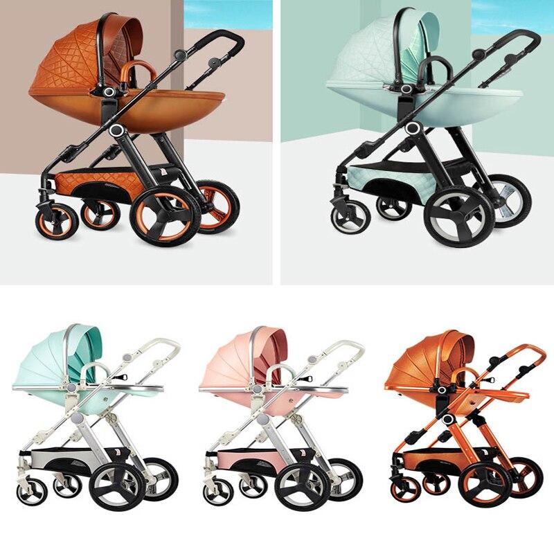 VOONDO детская коляска может сидеть полулежа легкий складной детей высокого пейзаж ребенок коляска BB корзину 2 в 1 и 3in1