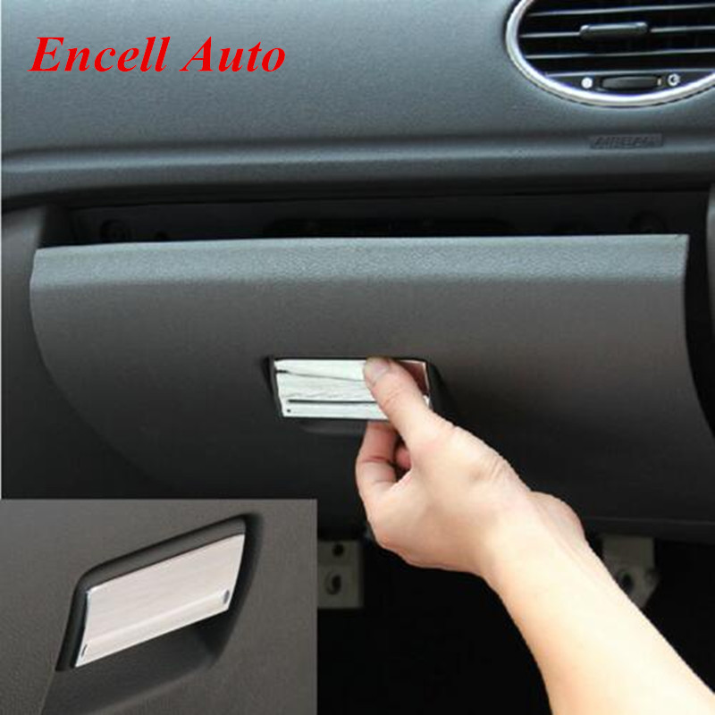 Car Styling Gloves Box Handle Buckle Cover Glove Box Trim For Ford Focus 2 MK2 2005 2006 2007 2008 2009 2010 2011 2012 2013 Abs for nissan qashqai 2008 2009 2010 2011 2012 2013 car inner decoration trim