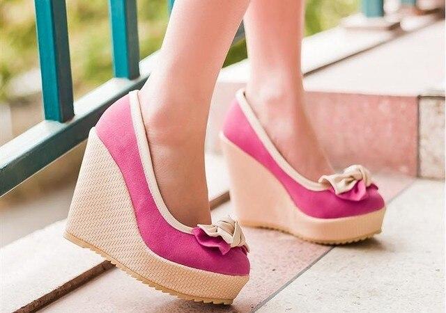 c9d217c9b Hot sale!!! women fashion sweet color matching temperament elegant bow shoes  of rome