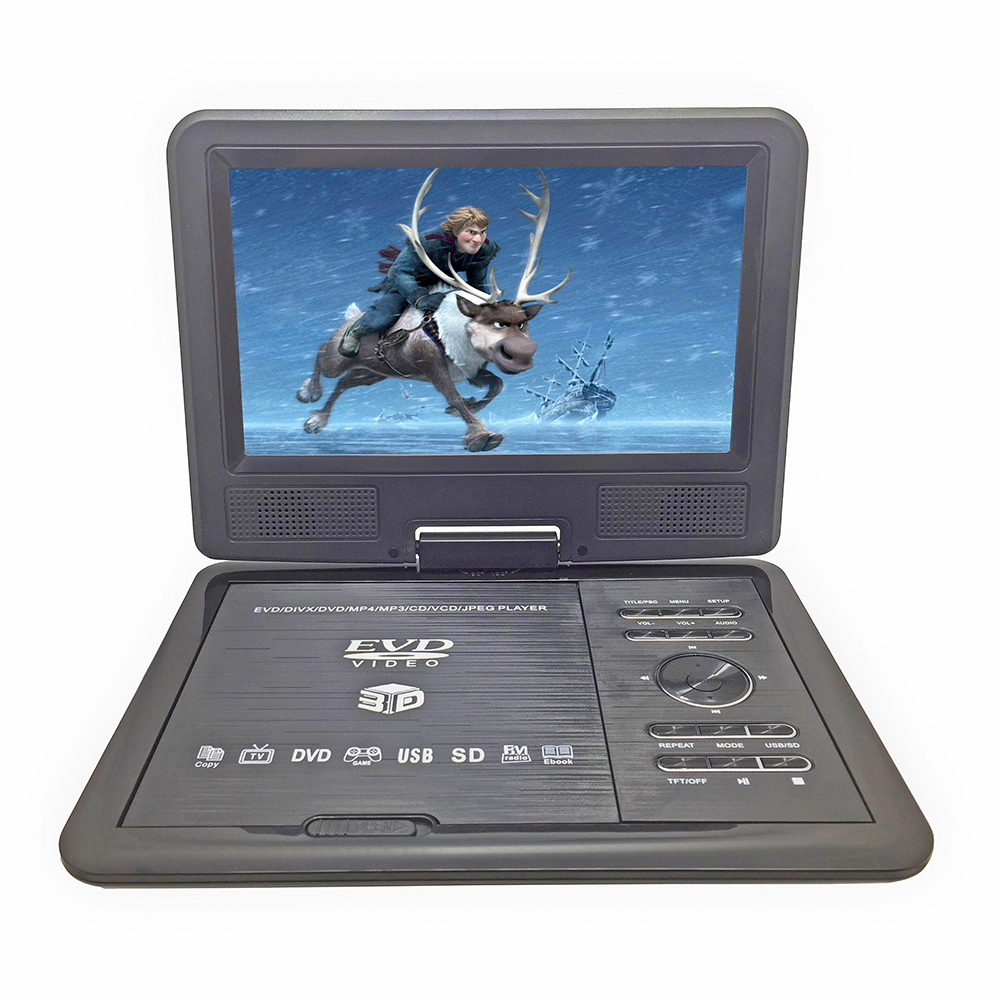 New 9.8inch Portable DVD Player Rechargerable Battery Game Player Radio Portable Analogue TV AV SD / MS / MMC Card Reader free shipping to ru 7 inch portable dvd player with game and tv function game function support sd ms mmc card