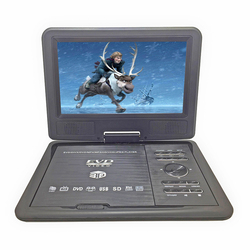 New 9.8inch Portable DVD Player Rechargerable Battery Game Player Radio Portable Analogue TV AV SD / MS / MMC Card Reader