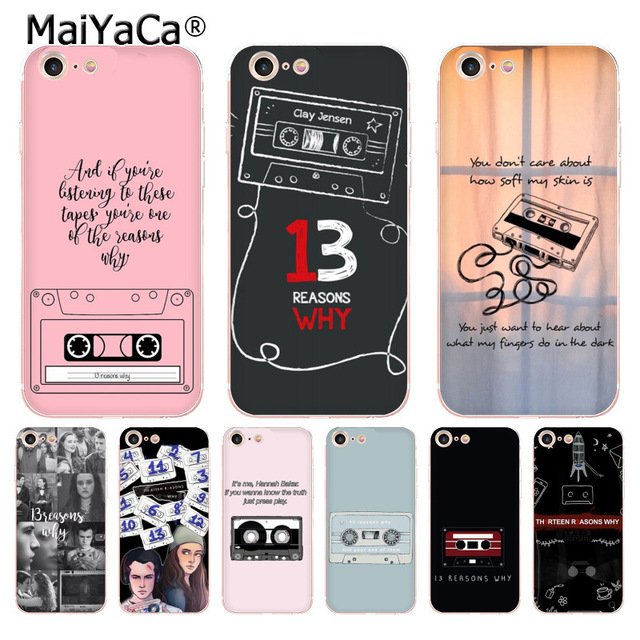 Maiyaca Thirteen 13 Reasons Why Quotes Luxury Phone Accessories Case