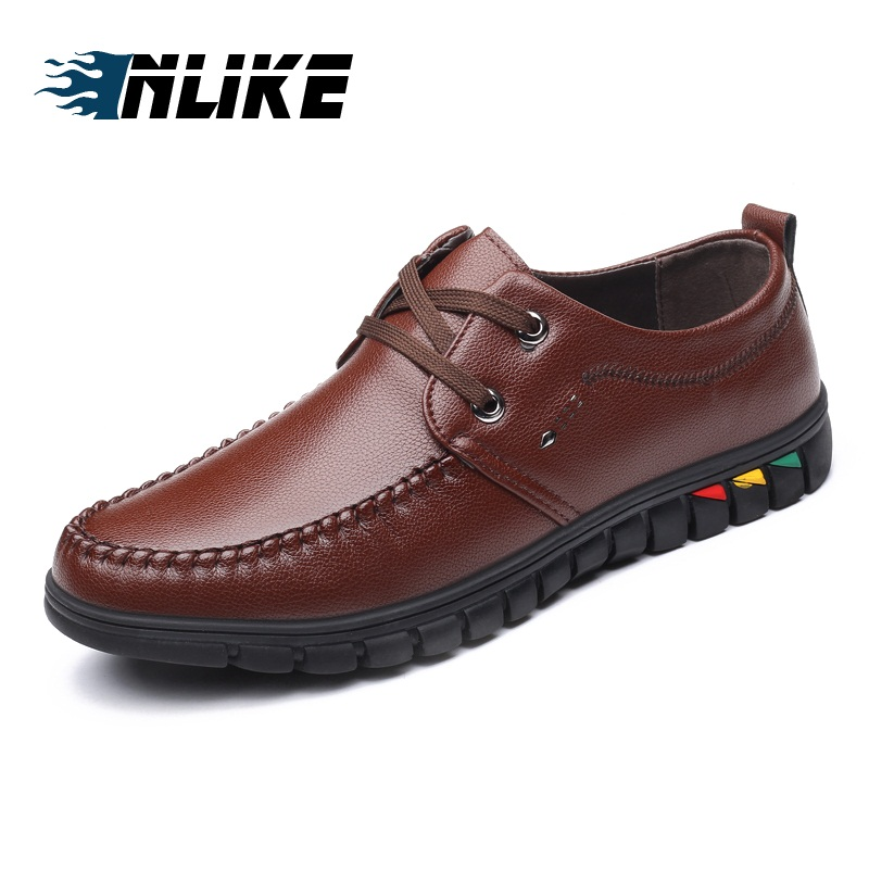INLIKE Men Casual Leather Shoes Loafers Men Shoes Quality Shoes Men Flats Hot Sale Moccasins Shoes