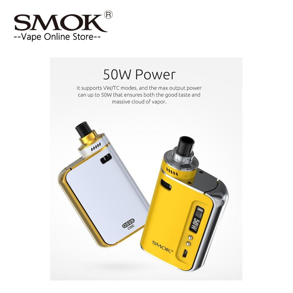 Liquidation! Smok origine OSUB Un Kit Tout-en-Un Kit 50 W Osub une Boîte MOD avec 2200 batterie mah et 2 ml Réservoir E Cigarette Vaporisateur kit - 2