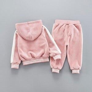 Image 2 - Ensemble de vêtements en velours pour bébés filles