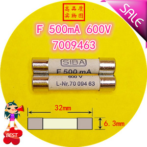 Image 1 - SIBA F fuse 500mA 600MA 800MA 2A 3A 10A  600V L Nr.7009463 70 094 63 6.3x32 fuse tube