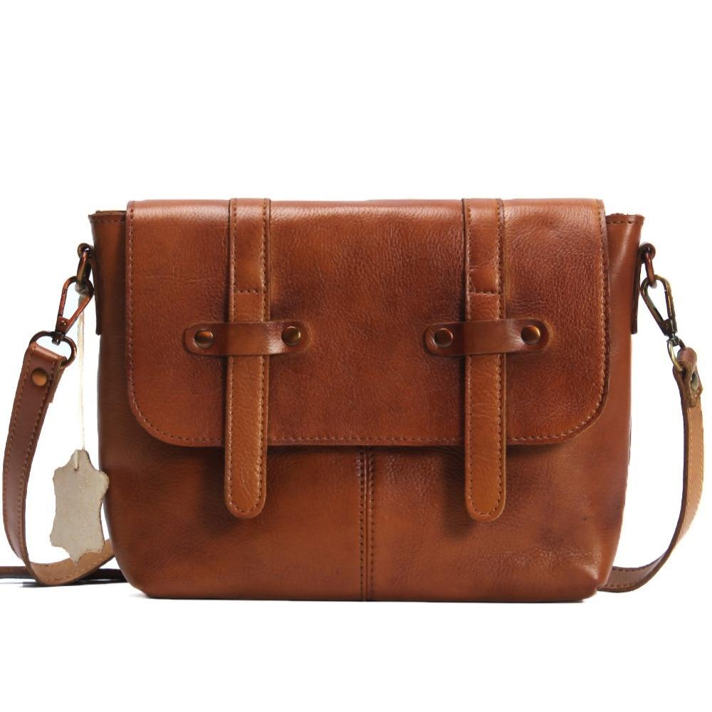 ФОТО Vintage Genuine Leather Bag crossbody bags for women satcchels Handbag Tote Famous Brand Shoulder Bag Clutch Purse