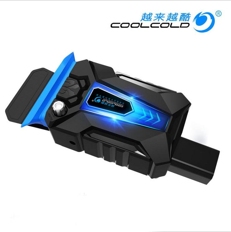 CoolCold Ice Magic 3 Мини Универсальный ноутбук Охлаждающий вентилятор USB Plug Скорость вытяжного вентилятора Регулируемый кулер для ноутбука Портативная подсветка